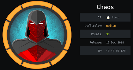 Chaos - Hack The Box - snowscan io