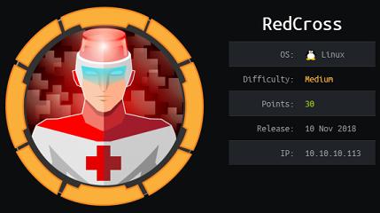Redcross - Hack The Box - snowscan io
